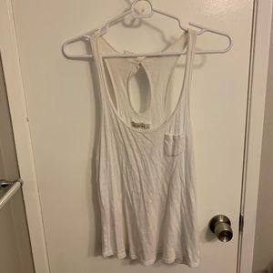 White tank top with bow detail